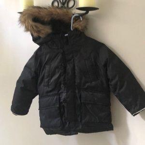 Gap Toddler Down Parka Jacket; black 3T